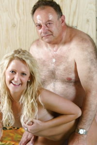 171.1 old man and young girl amateur