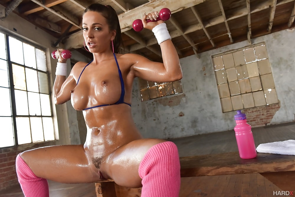 Abigail Mac at the gym