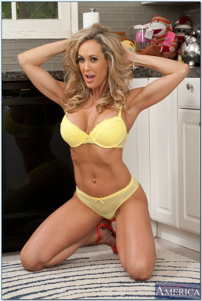 Brandi Love in yellow lingerie